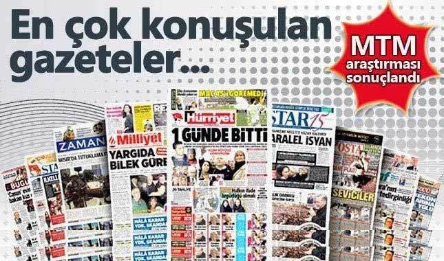Basında birinciliği Hürriyet gazetesi göğüsledi