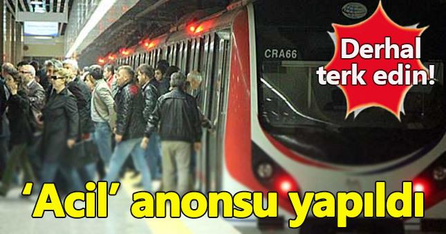 Yolcuları paniğe sürükleyen anons