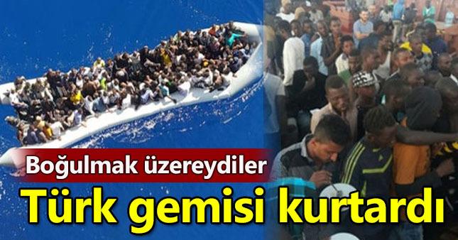 132 göçmeni Türk gemisi kurtardı