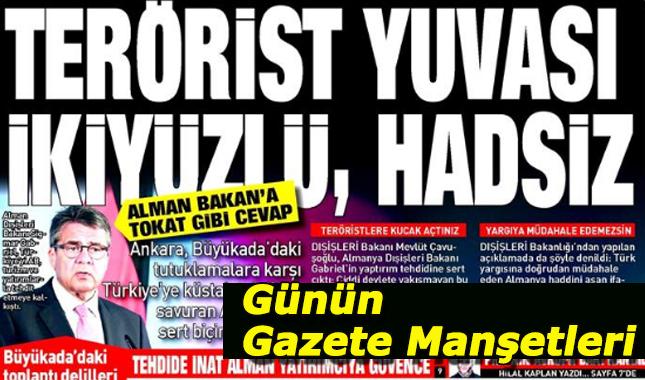 21 Temmuz 2017 Gazete Manşetleri
