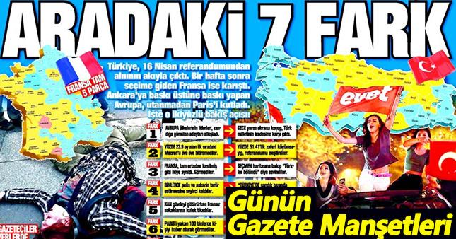 25 nisan salı gazete manşetleri