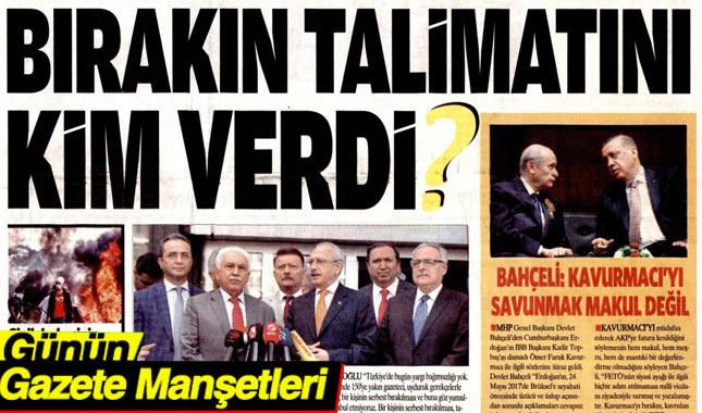 26 Mayıs 2017 Cuma Gazete Manşetleri