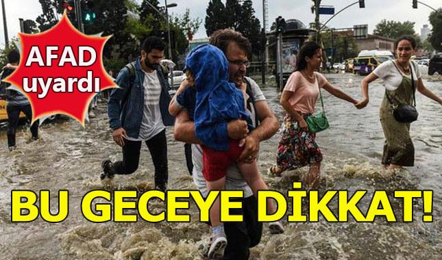 AFAD'dan İstanbullulara çok önemli yağış uyarısı