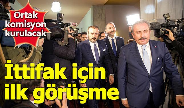 AK Parti ve MHP temsilcileri ittifak masasında
