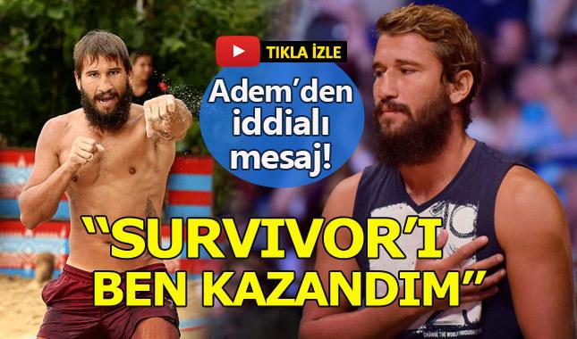 Adem Kılıççı: Survivor'ı ben kazandım