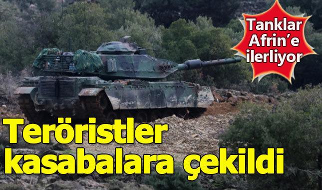 Afrin'e kara harekatı başladı, tanklar hedefleri vuruyor