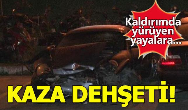 Bağdat Caddesi'nde kaza: Yaralılar var