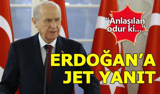 Bahçeli'den Erdoğan'a FETÖ yanıtı