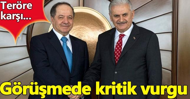 Başbakan Binali Yıldırım ve Barzani görüştü