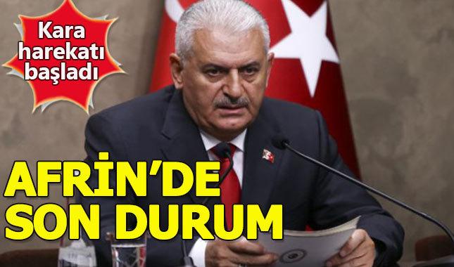 Başbakan'dan Afrin operasyonu açıklaması