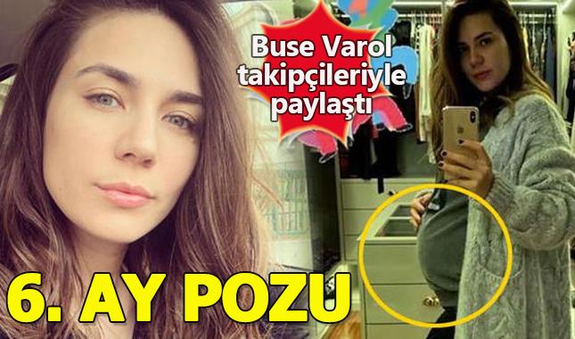 Buse Varol hamileliğinin 6.ayından poz verdi