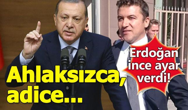 Cumhurbaşkanı Erdoğan, İsmail Küçükkaya'ya patladı: Terbiyesizce,Ahlaksızca, adice!