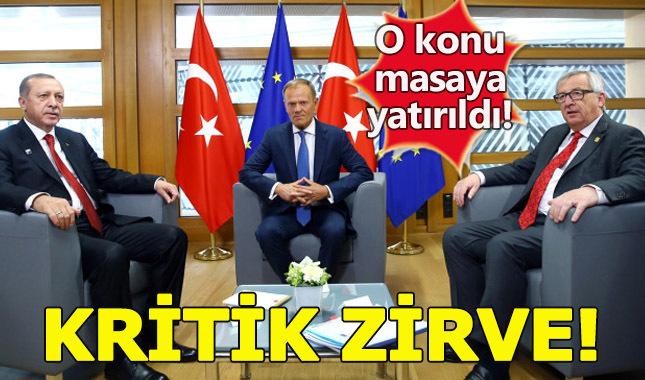 Cumhurbaşkanı Erdoğan, Tusk ve Janker'le bir araya geldi