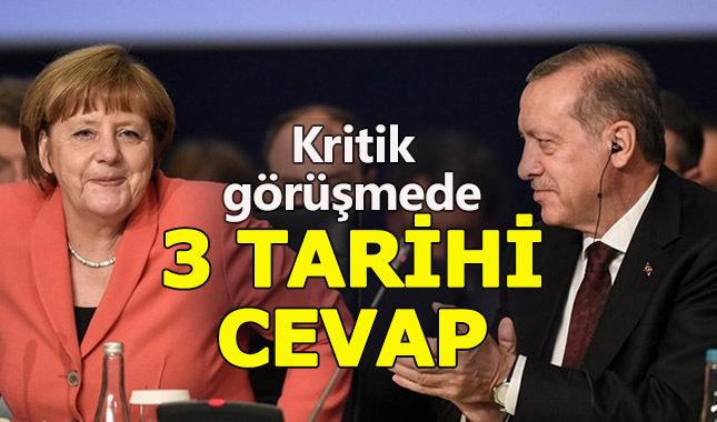 Cumhurbaşkanı Erdoğan ve Merkel görüşmesinde neler konuşuldu?
