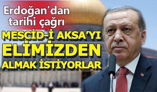 Cumhurbaşkanı Erdoğan'dan Kudüs çağrısı