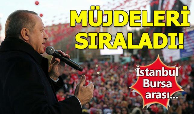 Cumhurbaşkanı Erdoğan'dan vatandaşlara müjdeli haberler