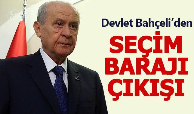 Devlet Bahçeli'den erken seçim ve baraj açıklaması