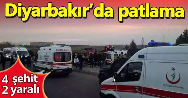 Diyarbakır'da polise saldırı: 4 şehit, 2 yaralı