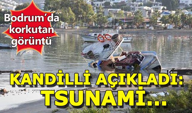 Ege'de depremden sonra küçük çapta tsunami gerçekleşti