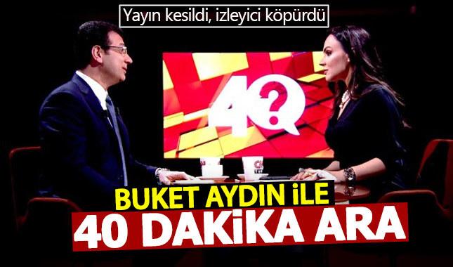"""CNN Türk'te Ekrem İmamoğlu'na 40 dakikalık """"Erdoğan"""" arası"""