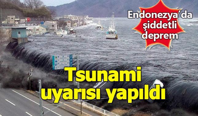 Endonezya'da çok şiddetli deprem, tsunami uyarısı yapıldı