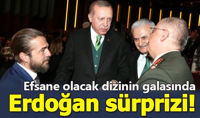 Erdoğan, efsane olacak dizinin galasına katıldı!