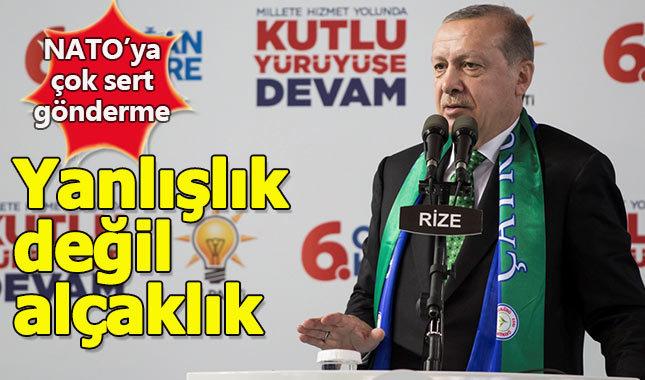 Erdoğan'dan NATO'ya sert gönderme