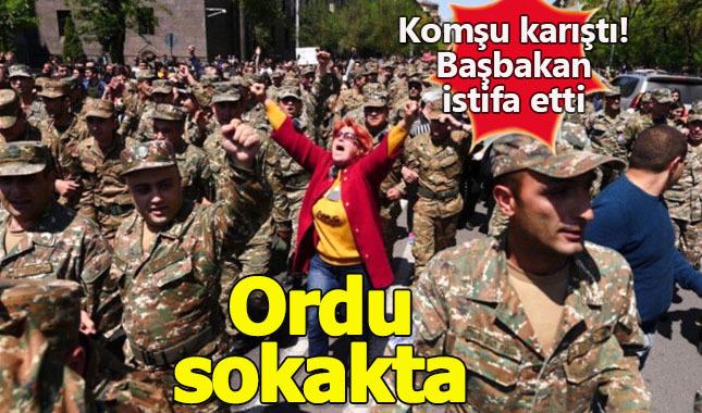 Ermenistan Başbakanı istifa etti, ordu sokakta
