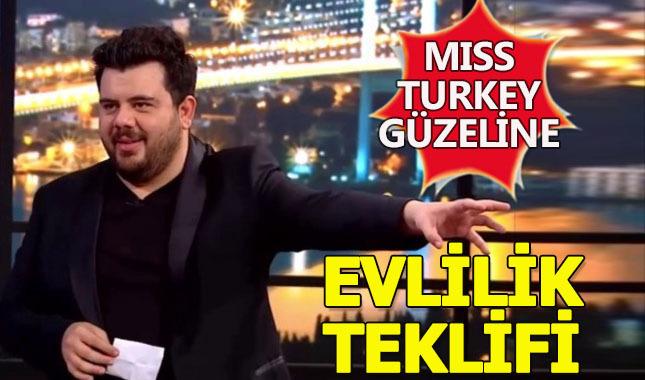 Eser Yenenler'den Miss Turkey güzeline sürpriz evlilik teklifi!