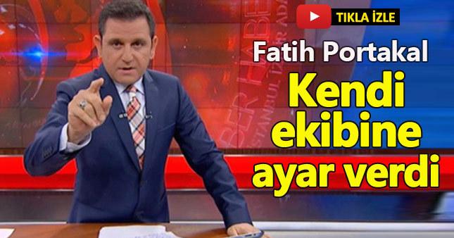Fatih Portakal o hatayı affetmedi