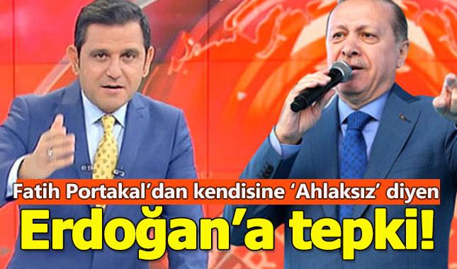 Fatih Portakal'dan Cumhurbaşkanı Erdoğan'a 'Edepsiz' cevabı