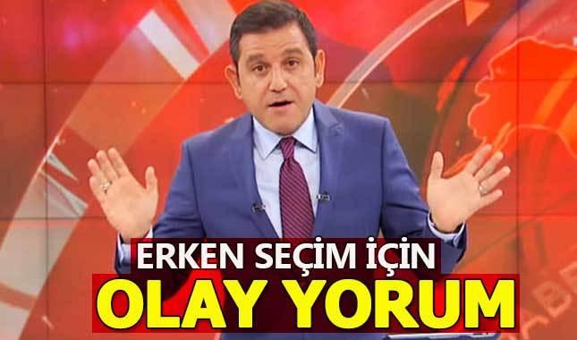 Fatih Portakal'dan erken seçim için şok yorum!