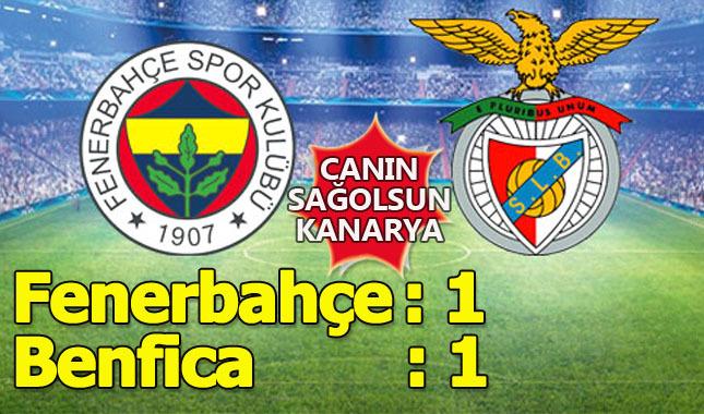 Fenerbahçe Benfica'yı geçemedi