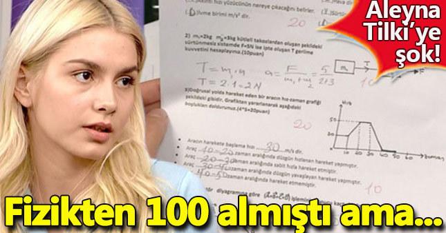 Fizikten 100 alan Aleyna'ya kötü haber