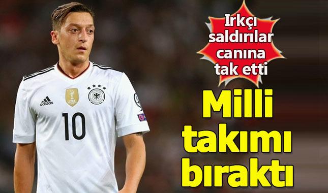 Gelen ırkçı saldırıların ardından Mesut Özil milli takımı bıraktı