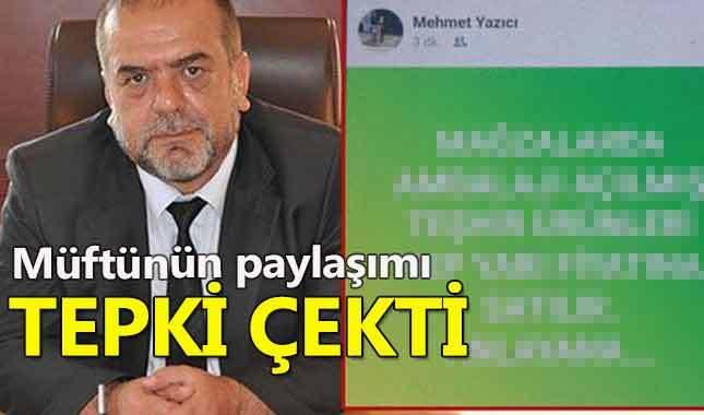 Gölcük Müftüsünün sosyal medya paylaşımı tepki çekti
