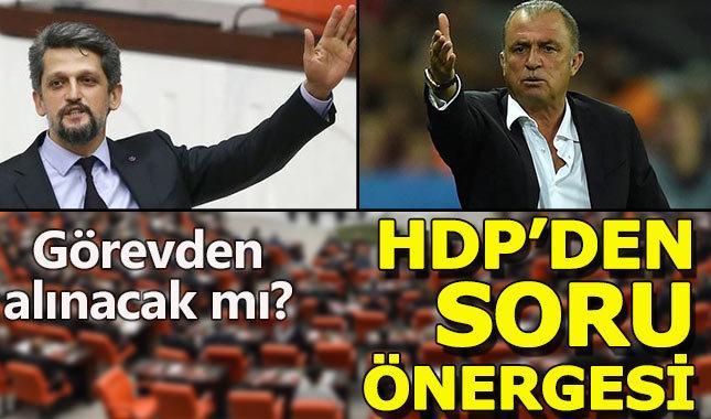 HDP'den Fatih Terim için soru önergesi