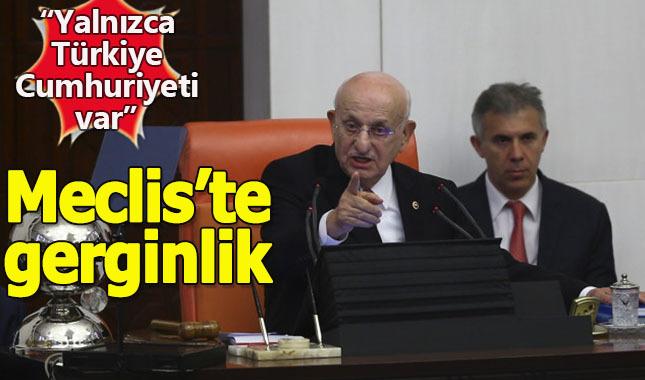 """HDP'li vekil """"Kürt İlleri"""" dedi, Meclis Başkanı çıldırdı"""