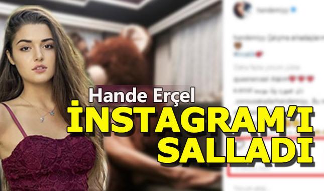 Hande Erçel'in bu paylaşımı İnstagramı salladı