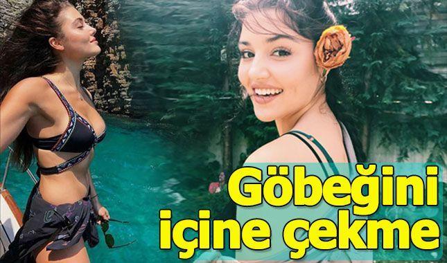 Hande Erçel'in olay bikinili paylaşımı