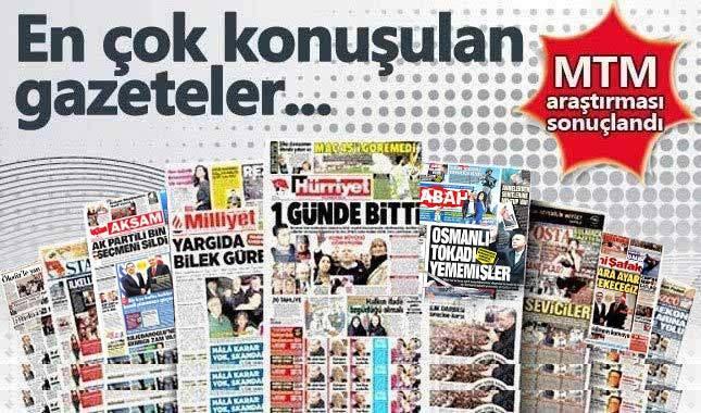 Hürriyet gazetesi gündemde en tepede