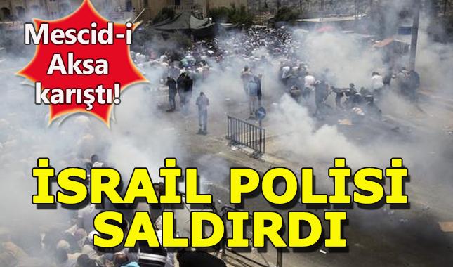 İsrail polisi cuma namazında Mescid-i Aksa'da saldırdı