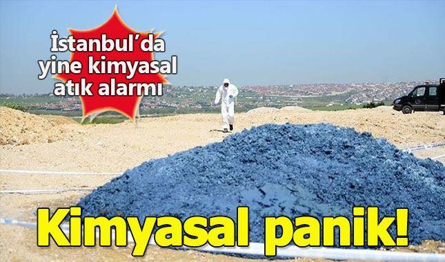 İstanbul Büyükçekmece'de yine kimyasal atık tepit edildi