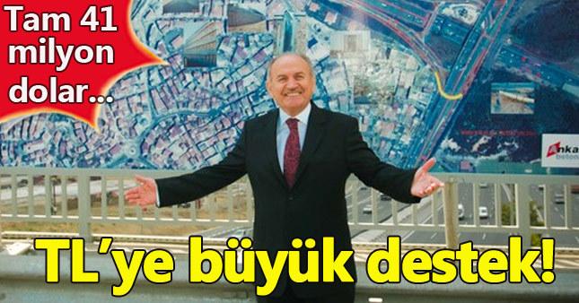 Kadir Topbaş'tan TL kampanyasına destek