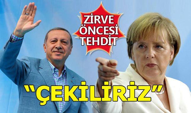 Merkel'den Türkiye'ye İncirlik tehdidi