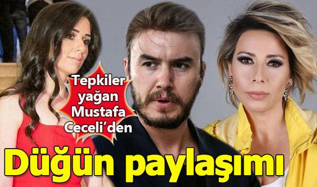 Tepkiler yağan Mustafa Ceceli'den düğün paylaşımı