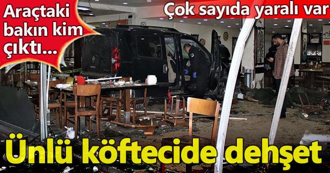 Otomobil köfteciye daldı: 13 yaralı
