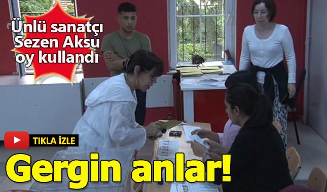 Oy kullanan Sezen Aksu ile gergin anlar yaşandı