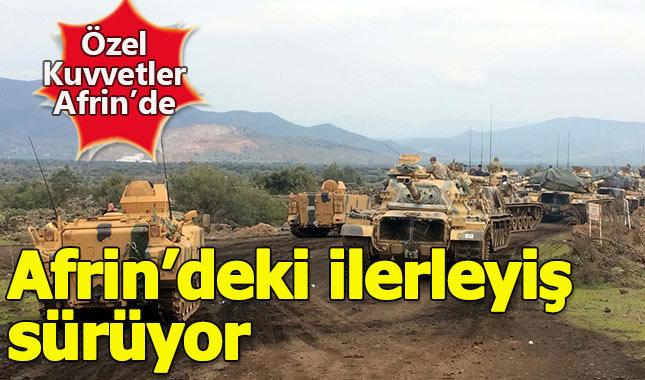 Özel Harekat Afrin'e giriş yaptı