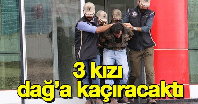 PKK'lı terörist 3 kızı dağa kaçırırken yakalandı